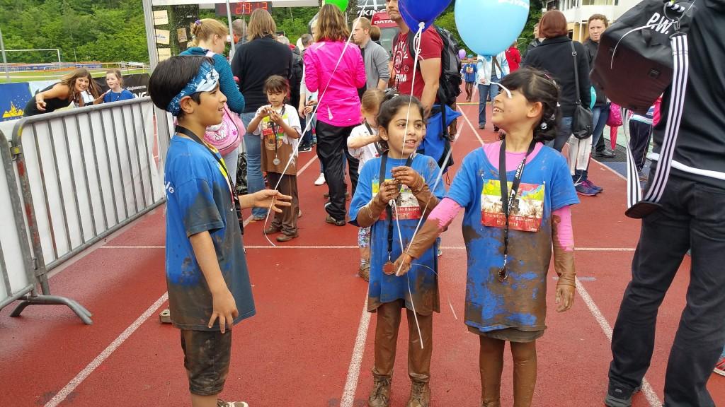 Trotz Schlammparcours hatten die Kinder viel Spaß bei der VIKING HEROES Challenge.