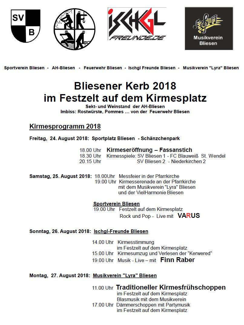 Programm Kirmes 2018